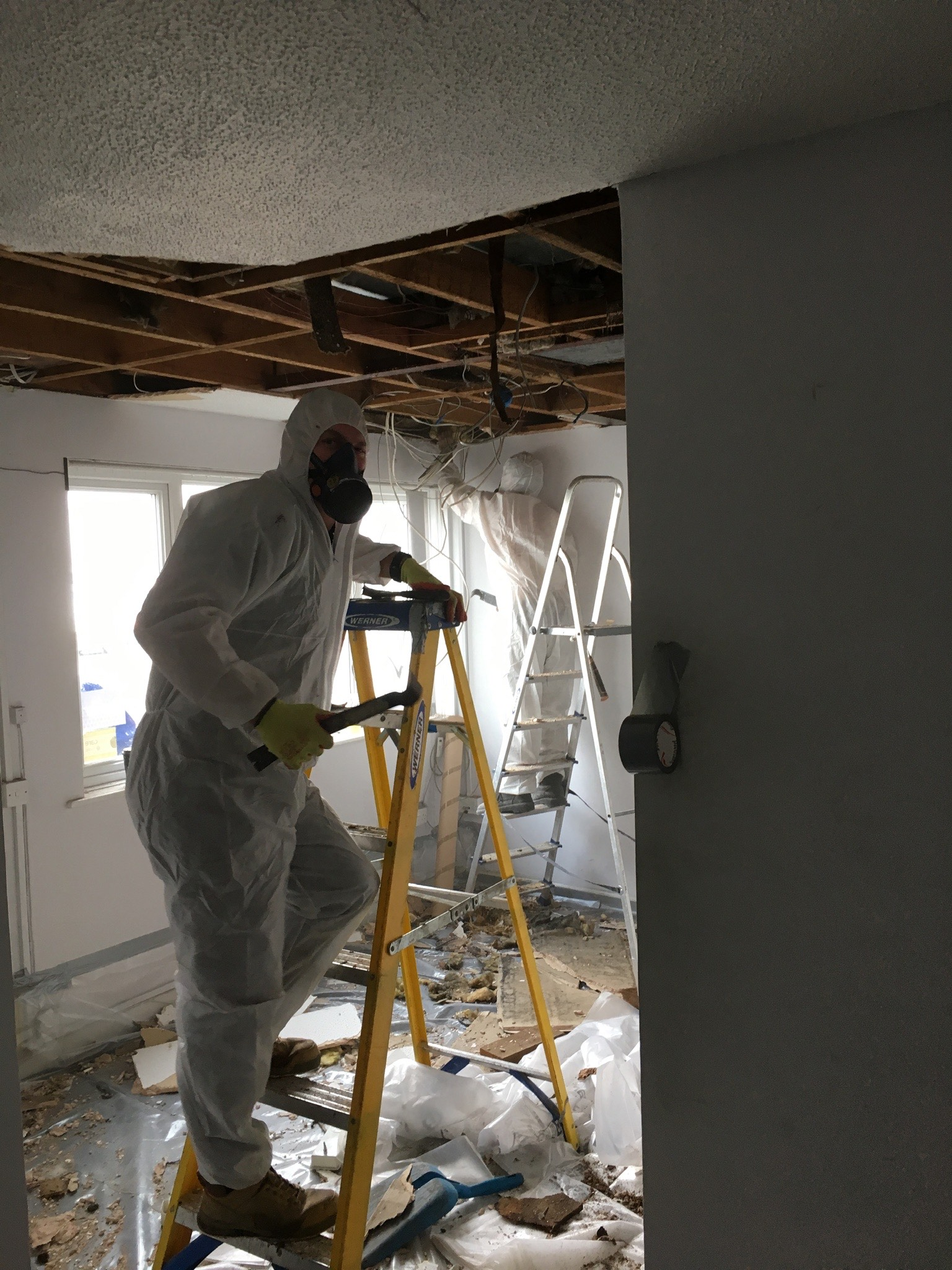 Asbestos Ceiling Removal Job in Reading, Berkshire